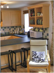 Bar stools in the Kitchen at Scar