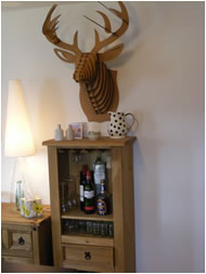 Drinks cabinet in Scar Cottage