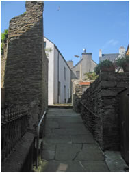 Narrow close in Stromness, Orkney